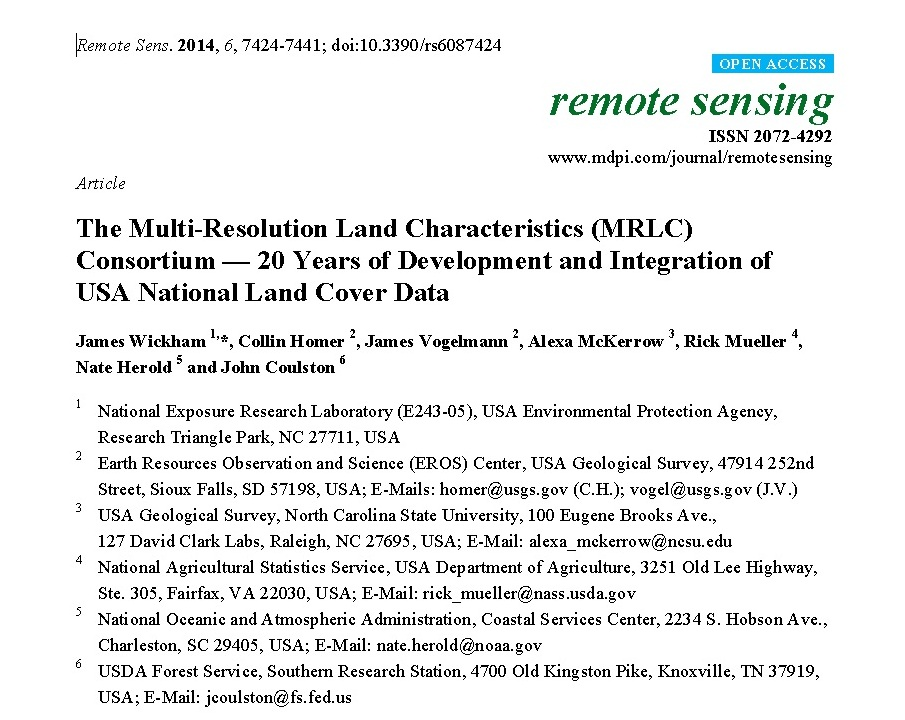 Tools | Multi-Resolution Land Characteristics (MRLC) Consortium